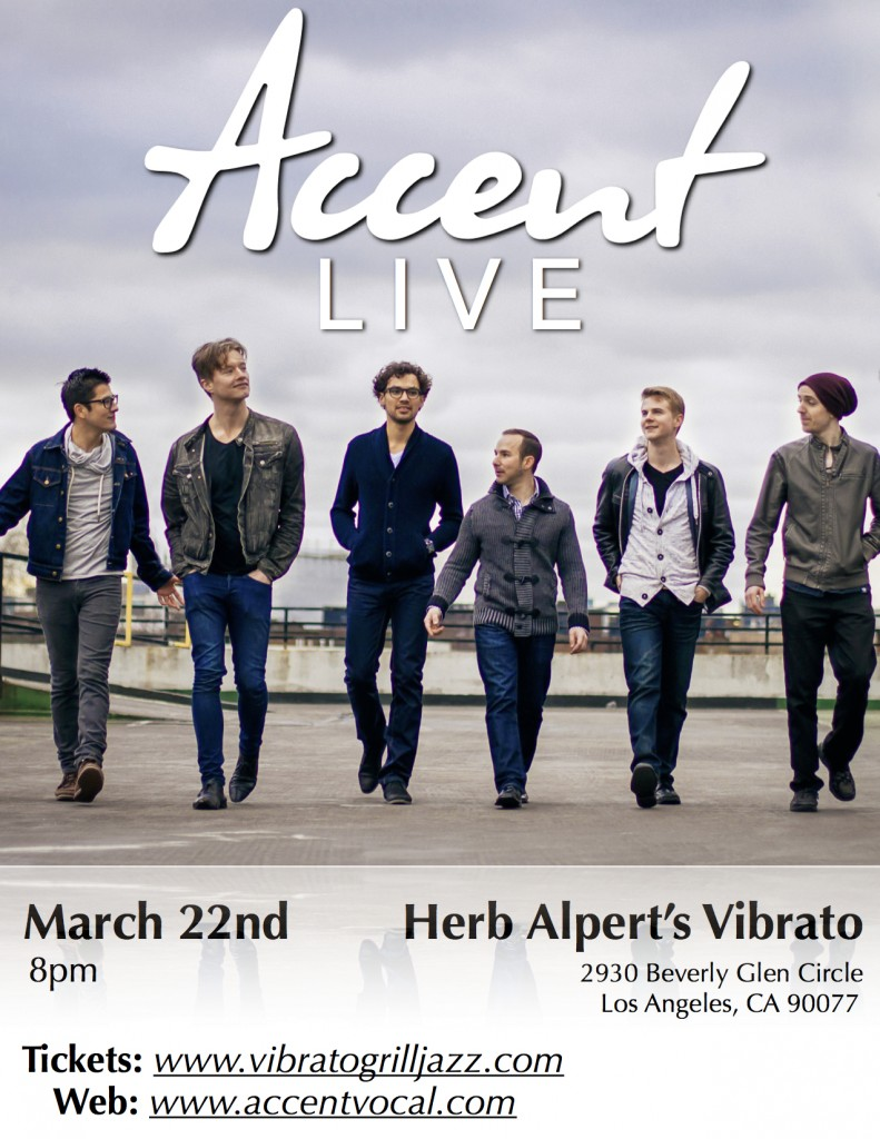 Accent Show Poster - Vibratos March 22nd